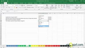Excel Uygulama Soruları-11. soru ve çözümü
