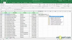Excel'de İlkEşlenen İşlevini Kullanmak