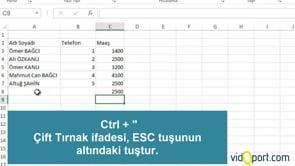 Excel'de veri girmek, veri girme yöntemleri