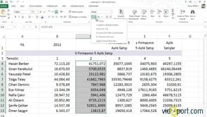 Excel'de Giriş ve Sayı grubu ve düğmeleri