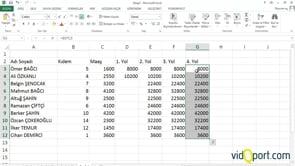 Excel formülleri kullanmak ve hesaplama yapmak