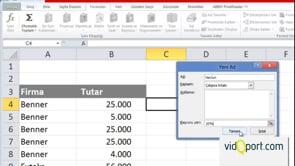 Sabit değerleri formüllerde kullanmak
