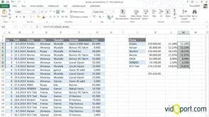 Gelişmiş filtre, Etopla ile satış yüzdelerini hesaplamak