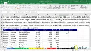 Excel Uygulama Soruları-19. soru ve çözümü