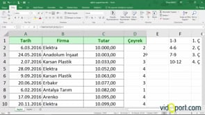 Excel'de bir tarihin hangi çeyreğe geldiğini bulmak-Tamsayı İşlevi