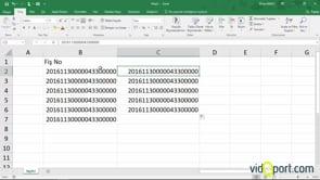 Excel'de tahakuk fiş numaralarında rakamların gruplanmasını önlemek