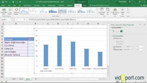 Excel'de grafiklerin içine resimler eklemek