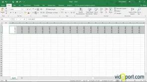 Excel'de 2017 yılı için basit bir çalışma takvimi oluşturmak