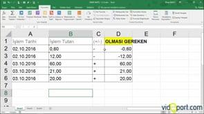 Sayıyaçevir işlevi ve eğer işlevi ile metin şeklindeki değerleri sayıya çevirmek
