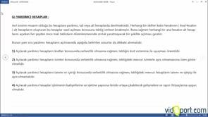 Hesap Grupları- Yardımcı Hesaplar