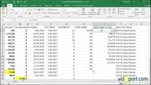 Excel' de Ödeme vadelerindeki aylık gecikme tutarlarını bulmak