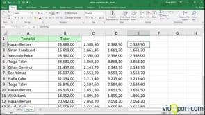 Excel'de klavye ile hesaplamalar yapmak