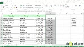 Excel'de birden fazla şart için ÇOKEĞER İşlevinin kullanımı