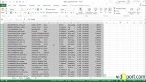 Excel'de Boş satır içeren tabloları seçmek.