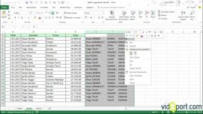 Excel Hızlı Doldur Özelliği