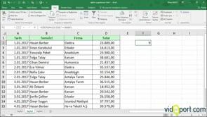 Excel'de Şarta bağlı saydırma Eğersay işlevinin kullanımı