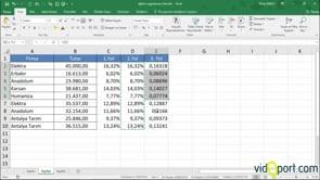 Excel'de Rakamları Yüzde'ye nasıl çevirirsiniz?