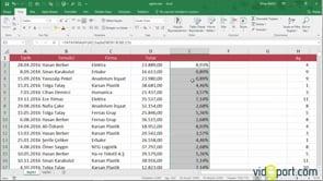 Excel'de dikeydeki verileri yataydaki veriler ile çarpmak-YATAYARA fonksiyonu
