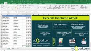 Excel'de Ortalama-Eğerortalama-Çokeğerortalama işlevleri ve kullanımları