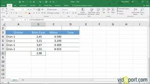 Excel'de Ağırlıklı Ortalamayı bulmak