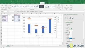 Excel Grafikler'de İşaretçiler şekillerini değiştirmek