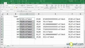 Excel'de Sayıdüzenle İşlevi ile ondalıklı rakamları ve metinleri birleştirme