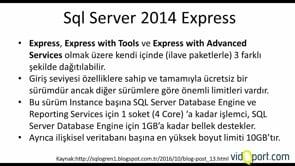 SQL Server Sürümlerini Karşılaştırma