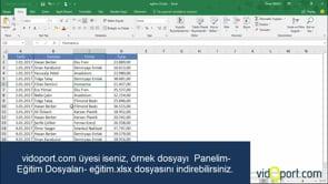 Excel Filtreleme yaptıktan sonra kalan değerleri Alttoplam işlevi ile toplama