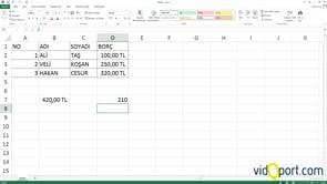 Excel Formülleri nasıl yazarız, Formül yazma ipuçları