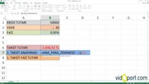 Excel'de Finansal formüller ve kullanımları