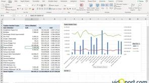 Pivot Tablo ve Çift sütunlu Grafikler