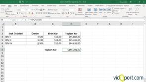 Excel'de Hedef Ara ile satış değerlerini tahmin etmek