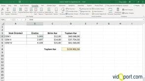 Excel'de Satış Değerlerini Senaryolaştırmak