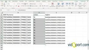 Excel'de SOLDAN ve SAĞDAN İşlevleri kullanımı