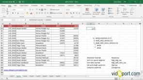 A'dan Z'ye Excel'de Saydırma fonksiyonları