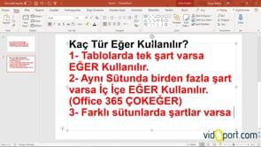 Excel Eğer İşlevi Mantığı Nasıldır?