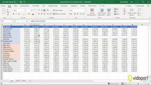 Excel'de 3 ayrı sayfadaki yatay verilerden satış raporları oluşturmak