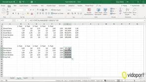 Excel'de Fiyat Endeksini bulmak, Fiyatların kendi içinde karşılaştırmalarını yapmak