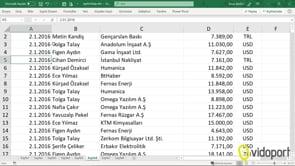 Excel'de Sayıların Tek Sayı mı?, Çift Sayı mı? olduğunu kontrol etmek