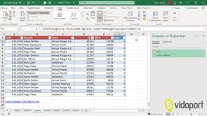 Excel'de Cari İsminin iki tarih arasındaki verilerini ayrı bir alana filtrelemek