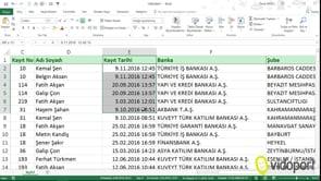 Excel'de Metni Sütunlara Dönüştür Özelliğini kullanmak