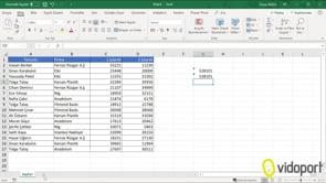 Excel'de Toplama işlemleri nasıl yapılır?