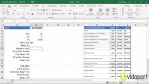 Excel'de Tarihlerde Gün, Ay, Yıl değerleri ve Gün, Ay isimlerini bulmak