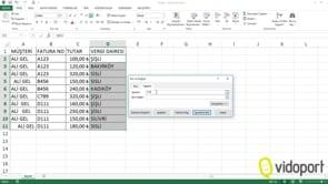 Excel'e veri girerken, standartları sağlamak