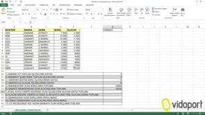 Excel'de Toplama, Saydırma Fonksiyonları nelerdir?