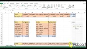 Excel'de Kes-Kopyala-Yapıştır İşlemleri nasıl yapılır?