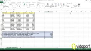 Excel'de Çoklu Özetleme Fonksiyonları nasıl kullanılır?