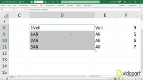 Excel'de Eğersay işlevi ile verileri saydırarak inmeyi nasıl yaparsınız?