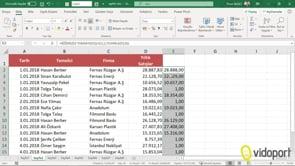 Excel'de 0,35 kuruş değerlerini 0,50 değerine yuvarlamak