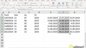 Excel'de metin şeklindeki tarihleri, tarih formatına dönüştürmenin 3 farklı yolu